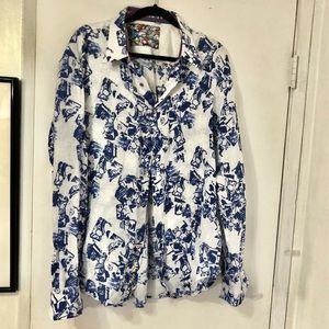 Robert Graham • Embroidered Button Down Shirt 2XL
